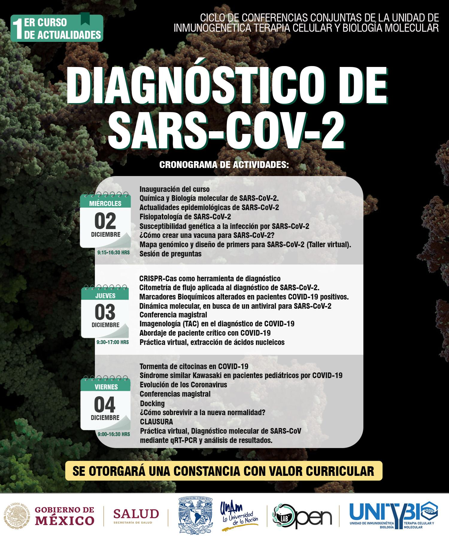 Diagnóstico molecular del SARS-COV-2