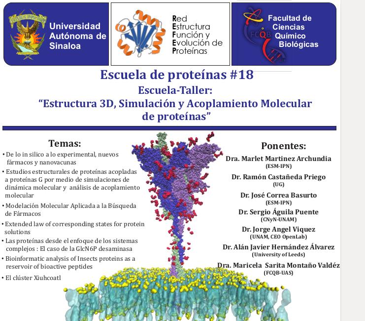 Escuela-Taller: Estructura 3D, Simulación y Acoplamiento Molecular de Proteínas