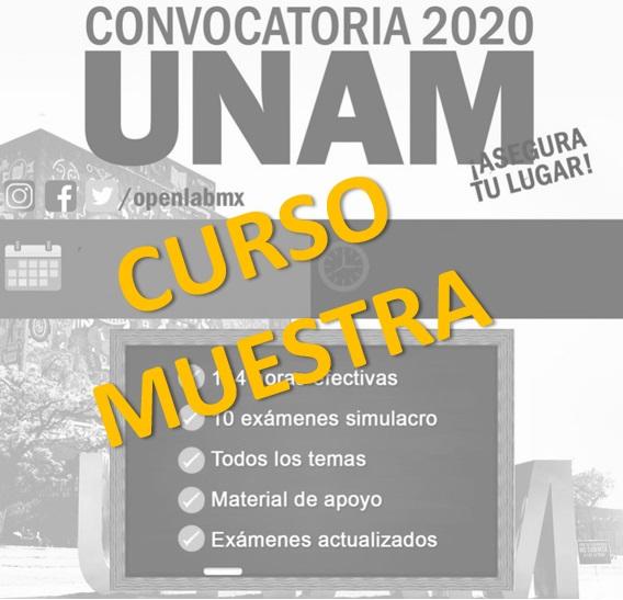 Curso Muestra Ingreso a la UNAM (gratuito)